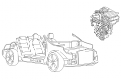 My_Volkswagon_Techdraw_BW